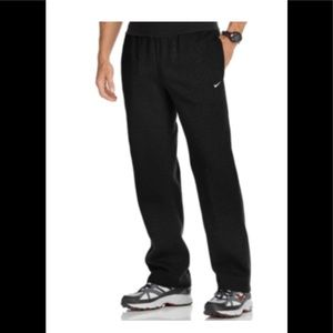 Nike classic sweatpants fleece open hem XL